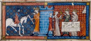 Perceval-arrives-at-grail-castle-